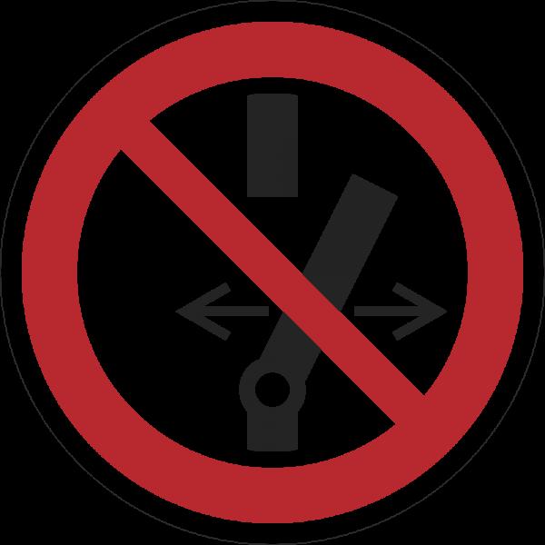 Schalten verboten ISO 7010-P031