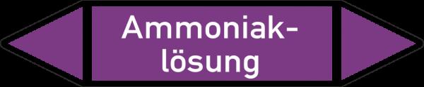 Rohrleitungskennzeichnungen - Ammoniaklösung