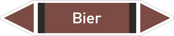 Rohrleitungskennzeichnungen - Bier