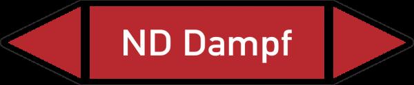Rohrleitungskennzeichnungen - ND Dampf