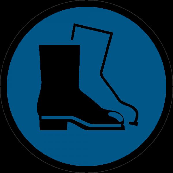 Fußschutz benutzen ISO 7010-M008