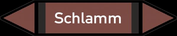 Rohrleitungskennzeichnungen - Schlamm