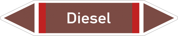 Rohrleitungskennzeichnungen - Diesel