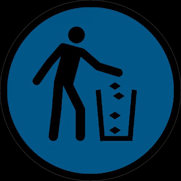 Abfallbehälter benutzen ISO 7010-M030