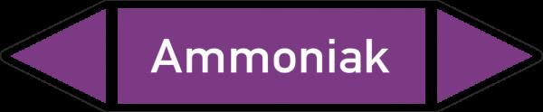 Rohrleitungskennzeichnungen - Ammoniak