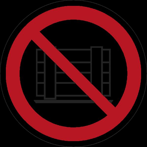 Abstellen oder Lagern verboten ISO 7010-P023