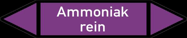 Rohrleitungskennzeichnungen - Ammoniak rein