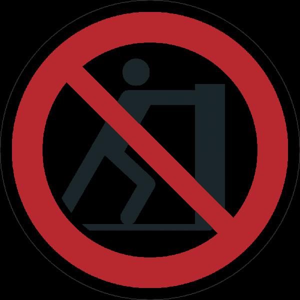 Schieben verboten ISO 7010-P017