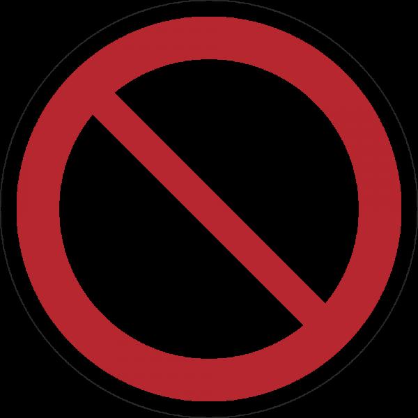 Allgemeines Verbotszeichen ISO 7010-P001