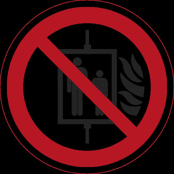 Aufzug im Brandfall nicht benutzen ISO 7010-P020