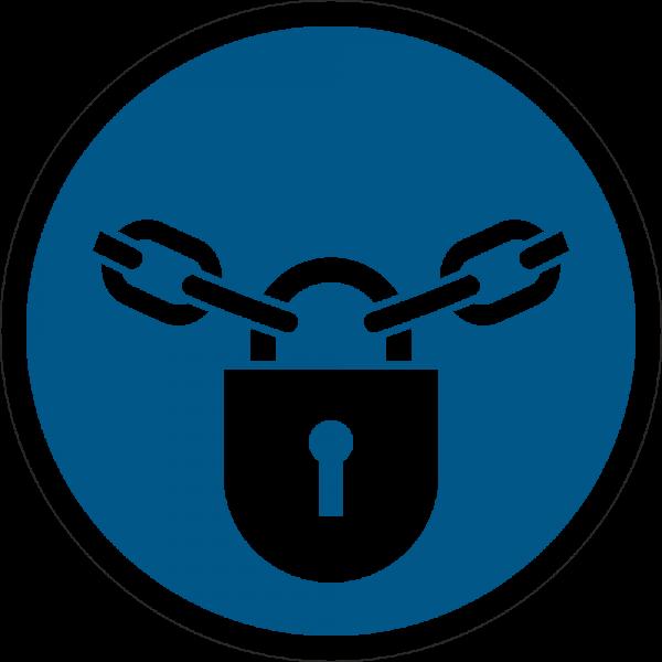 Verschlossen halten; Sperren ISO 7010-M028