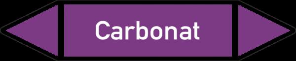 Rohrleitungskennzeichnungen - Carbonat