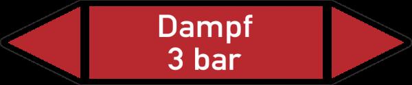 Rohrleitungskennzeichnungen - Dampf 3 bar