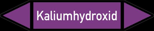 Rohrleitungskennzeichnungen - Kaliumhydroxid