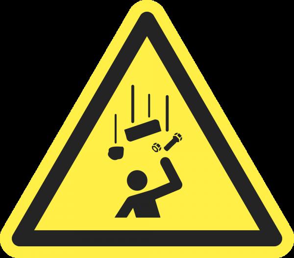 Warnung vor herabfallenden Gegenständen ISO 7010-W035