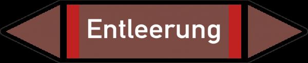 Rohrleitungskennzeichnungen - Entleerung