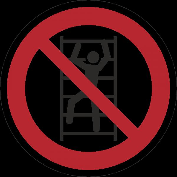Aufsteigen verboten ISO 7010-P009