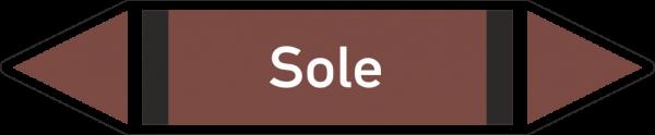 Rohrleitungskennzeichnungen - Sole