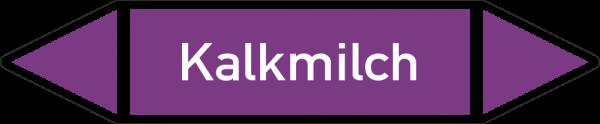 Rohrleitungskennzeichnungen - Kalkmilch