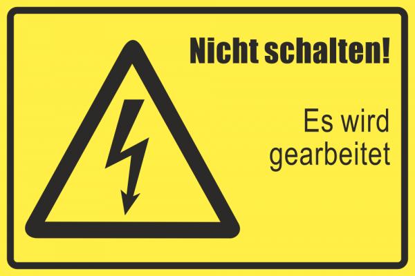 Betriebskennzeichnung Nicht schalten