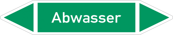 Rohrleitungskennzeichnungen - Abwasser