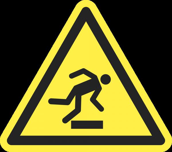 Warnung vor Hindernissen am Boden ISO 7010-W007
