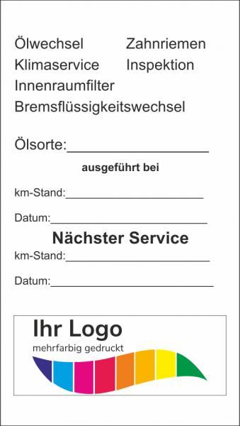Checkliste, Service Aufkleber 45x80mm