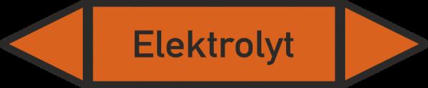 Rohrleitungskennzeichnungen - Elektrolyt