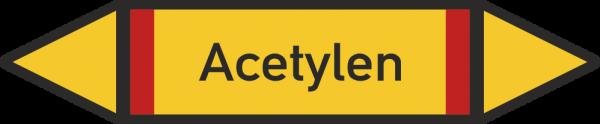 Rohrleitungskennzeichnungen - Acetylen