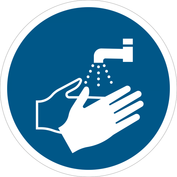 Hände waschen ISO 7010-M011