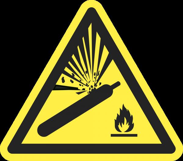 Warnung vor Gasflaschen ISO 7010-W029