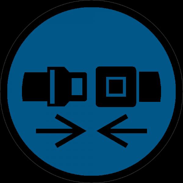 Rückhaltesystem benutzen ISO 7010-M020
