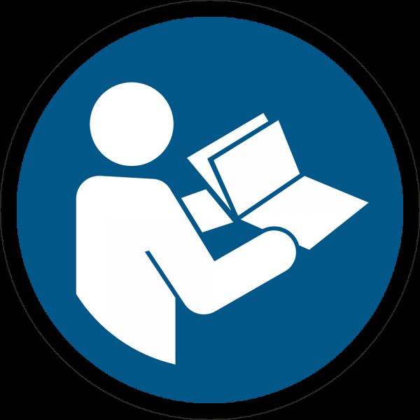 Anleitung beachten ISO 7010-M002