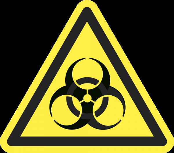 Warnung vor Biogefährdung ISO 7010-W009