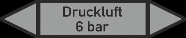 Rohrleitungskennzeichnungen - Druckluft 6 bar