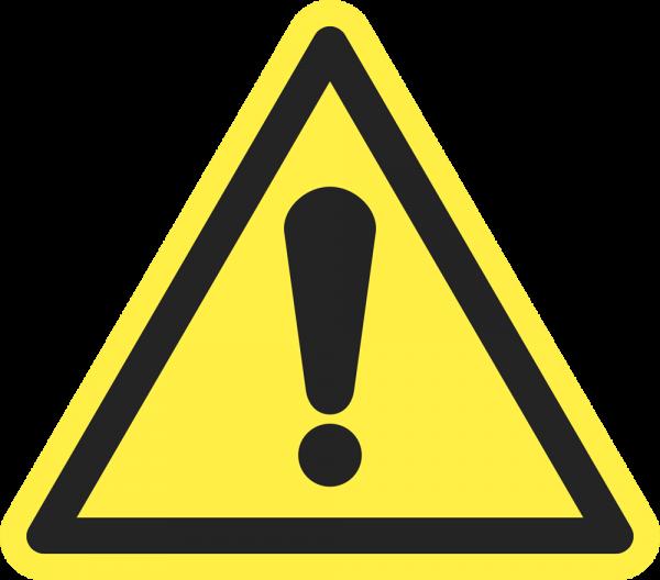 Allgemeines Warnzeichen ISO 7010-W001