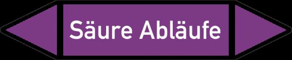 Rohrleitungskennzeichnungen - Säure Abläufe