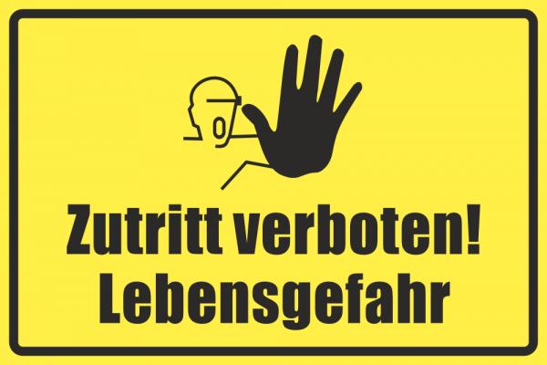 Betriebskennzeichnung Zutritt Verboten Lebensgefahr