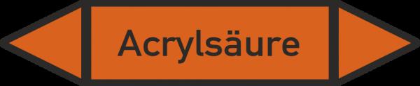 Rohrleitungskennzeichnungen - Acrylsäure