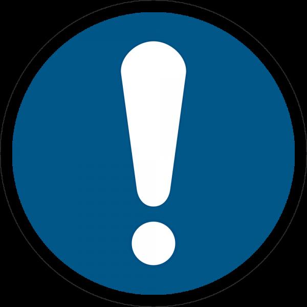 Allgemeines Gebotszeichen ISO 7010-M001