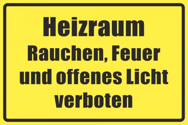 Betriebskennzeichnung Heizraum