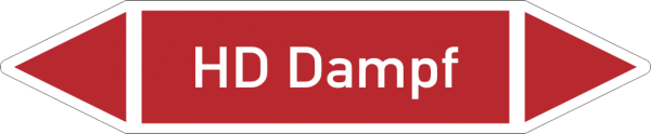 Rohrleitungskennzeichnungen - HD Dampf