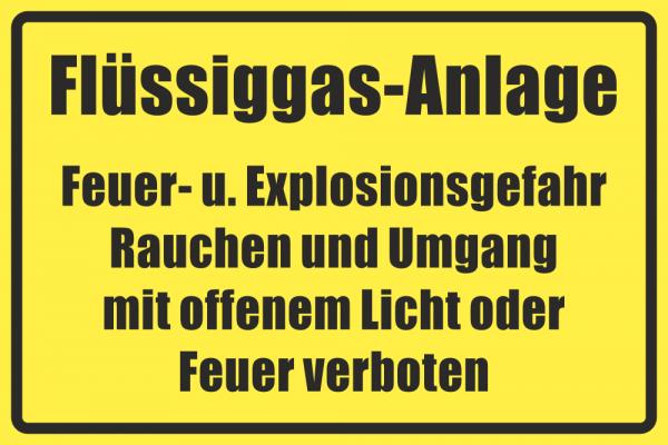 Betriebskennzeichnung Flüssiggasanlage