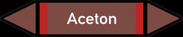 Rohrleitungskennzeichnungen - Aceton