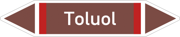 Rohrleitungskennzeichnungen - Toluol