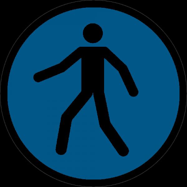 Fußgängerweg benutzen ISO 7010-M024