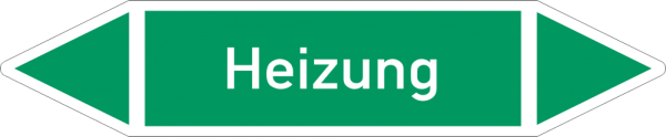 Rohrleitungskennzeichnungen - Heizung