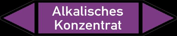 Rohrleitungskennzeichnungen - Alkalisches Konzentrat