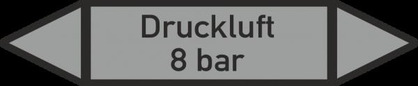 Rohrleitungskennzeichnungen - Druckluft 8 bar