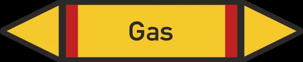 Rohrleitungskennzeichnungen - Gas